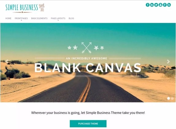 Simple Business theme - Best Free WordPress Themes