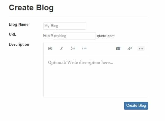 use quora to promote your website - Create Quora Blog