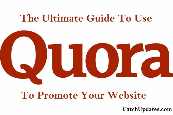 use quora to promote your website