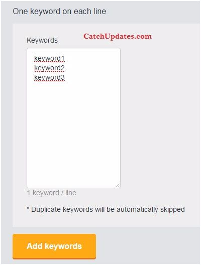 Adding New Keywords to MonitorBacklinks