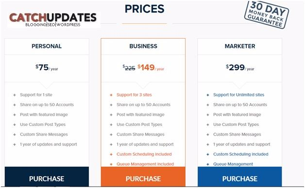 Revive Old Post Plugin - Pricing Plans