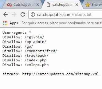 optimize robots.txt file of CatchUpdates