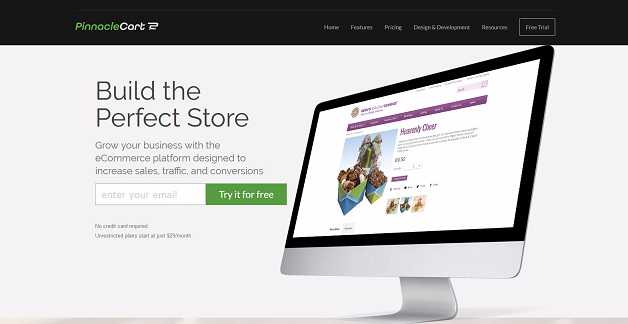 best e commerce website builders - Pinnacle Cart