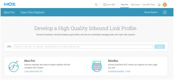 Building Backlinks tools - Moz