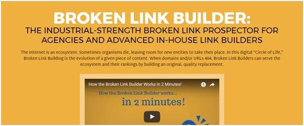 Checking and Building Backlinks tools - Broken Link Builder