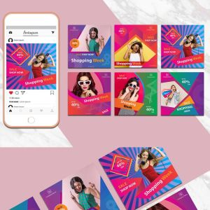 Colorful Instagram Banner Pack - Best Social Media Templates