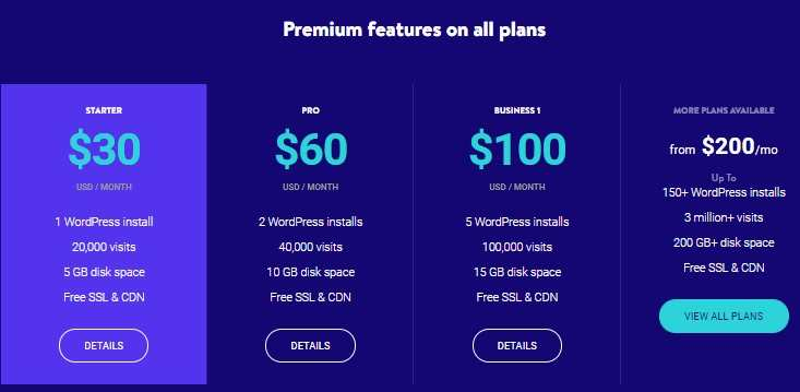 Kinsta WordPress Hosting Plans
