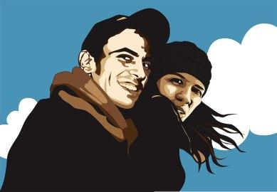 Ilustración Alvaro y Sara Illustration