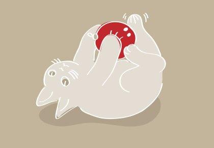 Ilustración Gatito. Illustration Kitty