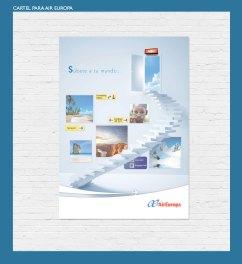 """Cartel para Air Europa. """"Súbete a tu mundo"""". Promoción para las líneas aéreas Air europa. Promotional poster for Air Europa airlines."""
