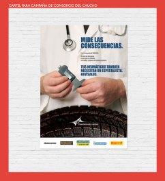 Cartel para campaña Consorcio del Caucho. Campaña revisión de neumáticos. Poster for Consorcio del Caucho. Tires control and safety campaign.