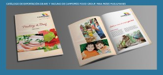 Catálogo de ave y vacuno de Campofrío Food Group. Productos de ave y vacuno para países musulmanes. Poultry and beef products brochure for muslim countries.