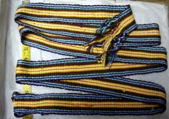 """Multiple color stripes 1-1/2"""" qwide about 60"""" Long"""
