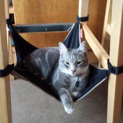 Cat Hammock Under Chair Washable Bean Bag Chairs Catcrib Com Crib Space Saving Underneath Your