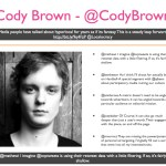 Cody Brown - @CodyBrown