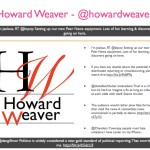 Howard Weaver - @howardweaver