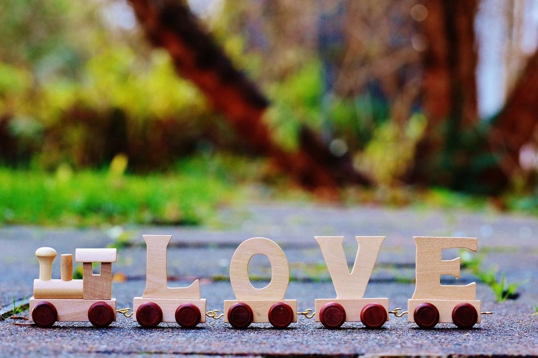 Wood Train Love Toys Affection Romance