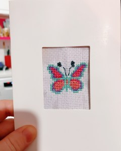 Butterfly cross stitch card