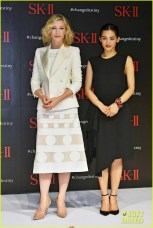 Cate Blanchett attends the event for SK-II Change Destiny Forum at the Prince Park Tower Featuring: Cate Blanchett, Haruka Ayase Where: Tokyo, Tokyo, Japan When: 21 Jan 2016 Credit: Kento Nara/Future Image/WENN.com **Not available for publication in Germany, Poland, Russia, Hungary, Slovenia, Czech Republic, Serbia, Croatia, Slovakia**