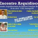 14º Encontro Arquidiocesano da Pastoral Familiar será dia 24