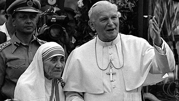 Santa Teresa de Calcuta y San Juan Pablo II
