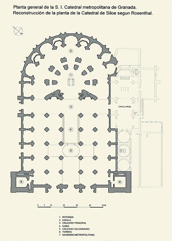 PLANTA CATEDRALICIA DE SILOE (1528) Propuesta de E.E. Rosenthal