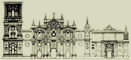 ALZADO DE LA FACHADA, SIGLOS XVII-XVIII