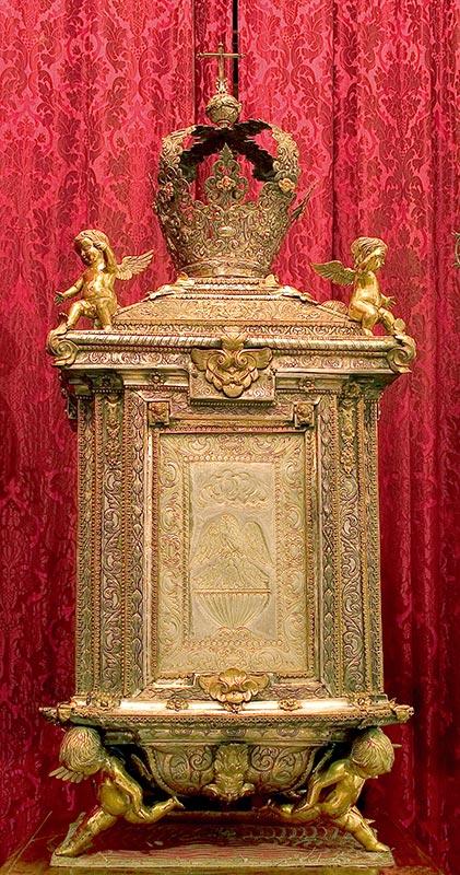 SIGLO XVIII: ARCA EUCARÍSTICA ¿Dibujo de Alonso Cano? ¿Artífice: D. Cervantes Pacheco?
