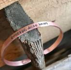 courage, dear heart copper cuff hand stamped. $24