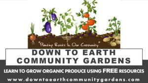 Down To Earth Community Gardens logo