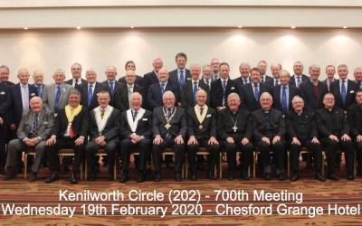 Kenilworth Circle 700th meeting