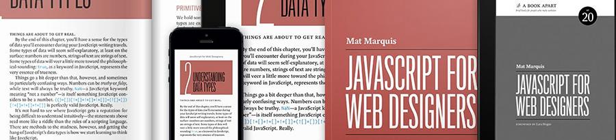 Top livres pour Noël 2016 - Javascript pour les webdesigners, sur le blog de Catepeli