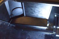 Large round grommet and IVA trim on all non-radiused edges inside the footwells.