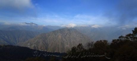 Parte del panorama visibile dal Monte Rubello