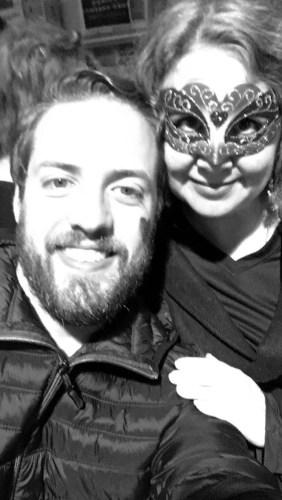 My friend Garrett and I on Halloween. Photo credit: Garrett Frazier on my iPhone
