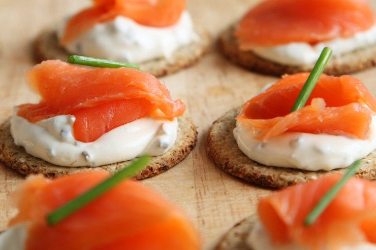 smoked salmon, cream cheese