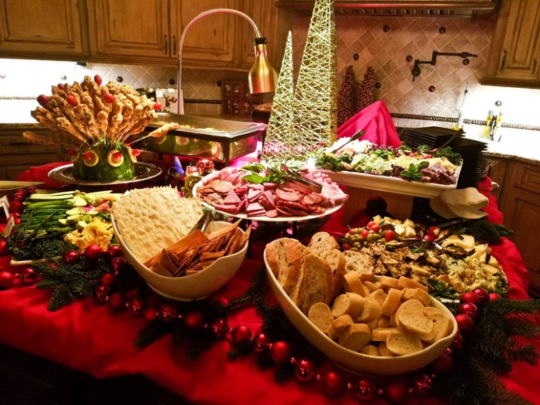 Custom Artisan Display and Buffet at Holiday Event
