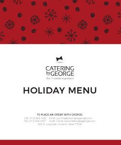 2019 holiday menu