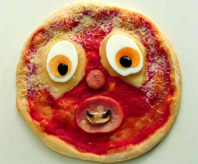 Clown Pizza da fare con i bambini a casa