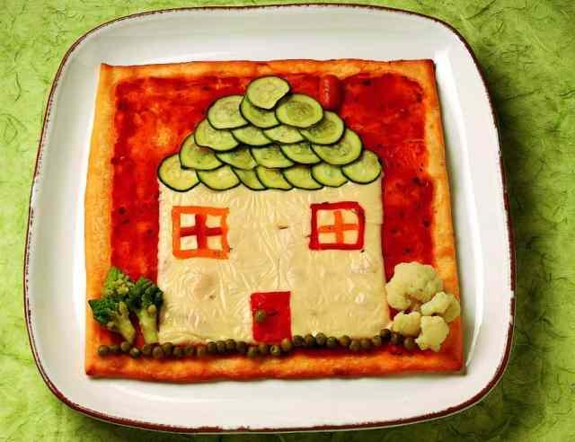 Pizza Casetta da fare con i bambini a casa