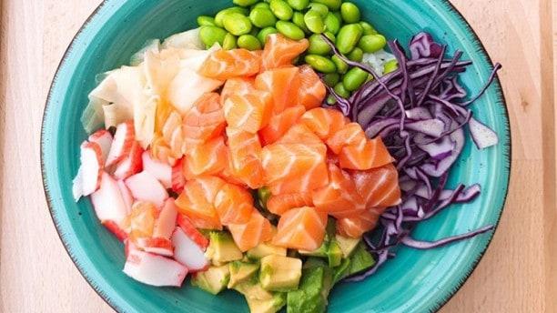 poke bowl healty food