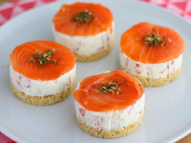 Mini Cheesecake salato al salmone