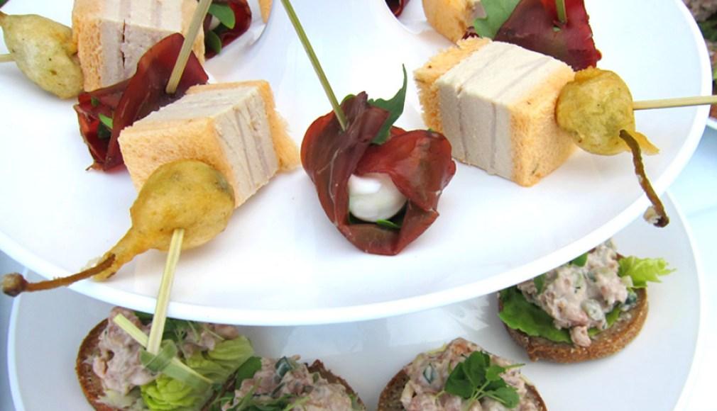 Flying Fingerfood zum Catering für die Luxusmarke.