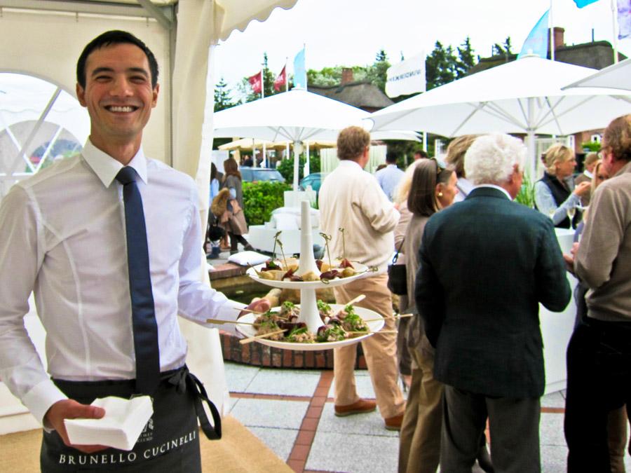Italienisches Catering mit Flying Fingerfood zum Sommerfest