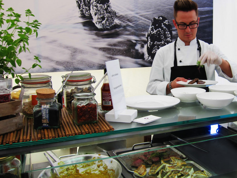 Live-Cooking Station zum Hospitality Catering am Rothenbaum