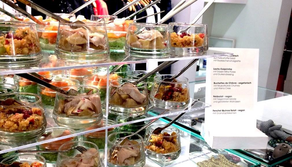 Stacked Buffet beim Fashion Store Event in Saarbrücken.