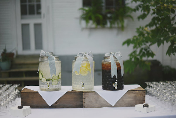 Beverage Dispensers | Farm to Table Wedding | Epicure Catering and Cherry Basket Farm | Northern Michigan Barn Wedding Venue Omena MI