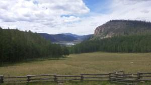 Glacier-made valley in Colorado