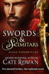 Book cover for Swords and Scimitars by Cate Rowan