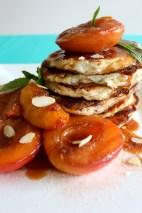 Baked Nectarines and Ricotta Hotcakes